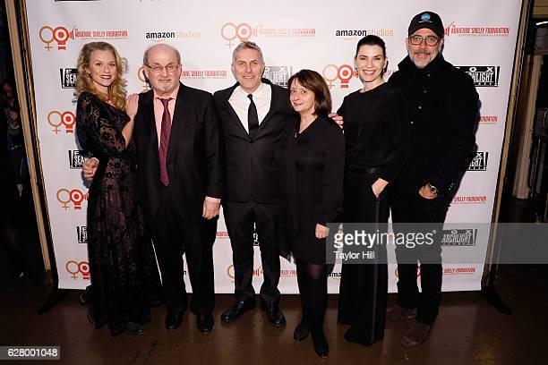 Hilarie Burton Salman Rushdie Andy Ostroy Rachel Dratch Julianna Margulies and Jeffrey Dean Morgan attend the Adrienne Shelly Foundation 10th...
