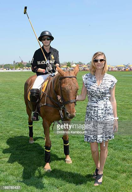 Hilario Figueras and Delfina Blaquier attend the sixth annual Veuve Clicquot Polo match Classic on June 1 2013 in Jersey City