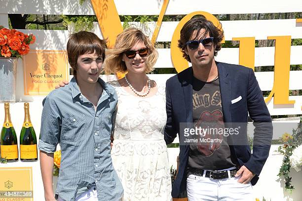 Hilario Figueras Delfina Blaquier and Nacho Figueras attend the seventh annual Veuve Clicquot Polo Classic in Liberty State Park on May 31 2014 in...