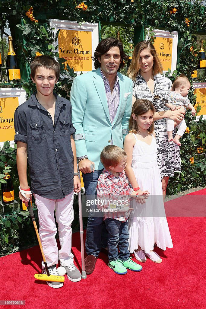 Hilario Figueras, Nacho Figueras, Delfina Blaquier, Alba Figueras, Artemio Figueras and Aurora Figueras attend the sixth annual Veuve Clicquot Polo Classic on June 1, 2013 in Jersey City.