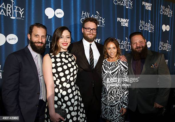 Hilarity for Charity board members Matthew Bass, Lauren Miller Rogen, Seth Rogen, Tum Cohl and Raffi Adlan attend Hilarity for Charity's annual...