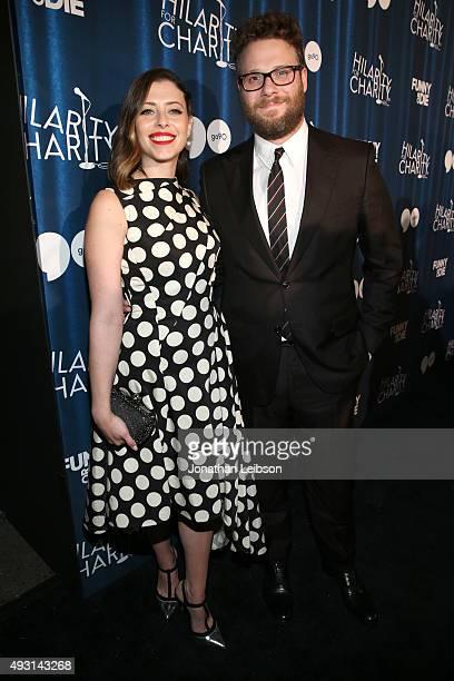 Hilarity for Charity co-founder Lauren Miller Rogen and Hilarity for Charity co-founder/event host Seth Rogen attend Hilarity for Charity's annual...