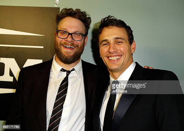 Hilarity for Charity cofounder/show host Seth Rogen and actor James Franco attend Hilarity for Charity's Annual Variety Show James Franco's Bar...