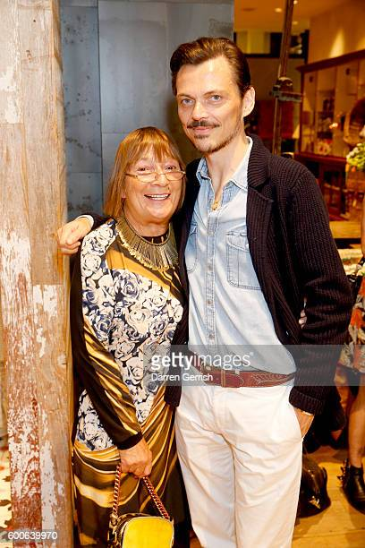 Hilary Alexander and Matthew Williamson attend the book launch of Matthew Williamson Fashion Print Colouring by Laurence King Publishing at...