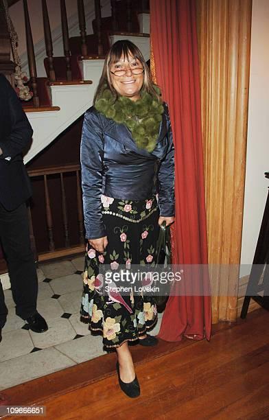 Hilary Alexander at the Marni dinner for Consuelo Castiglioni