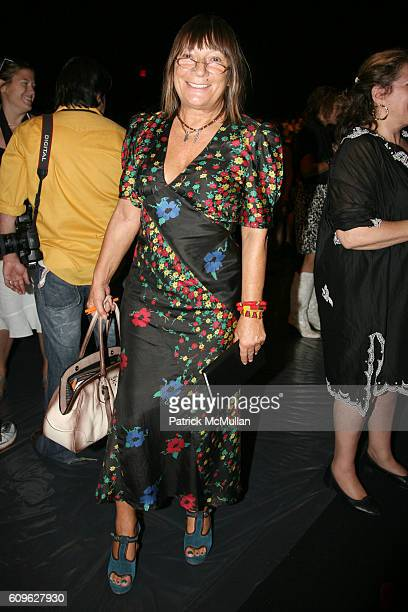 Hilary Alexander attends ANNA SUI Spring 2008 Collection at The Tent on September 10 2007 in New York City