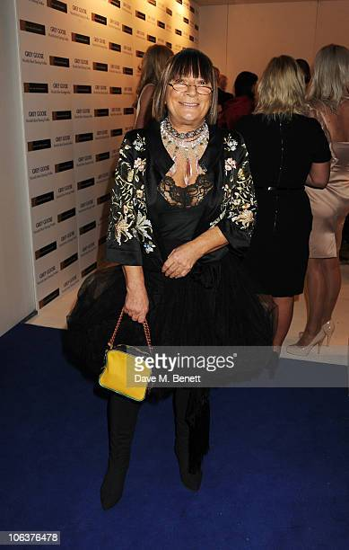 Hilary Alexander attends Grey Goose Character and Cocktails The Elton John AIDS Foundation Winter Ball at Maison de Mode on October 30 2010 in London...