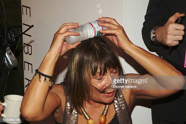 Hilary Alexander was injured by a falling light at the end of Diane Von Furstenberg's Spring 2006 Fashion Show on September 11 2005