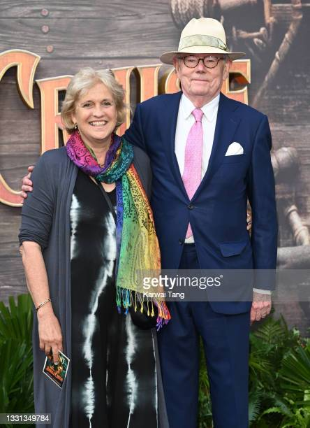 """Hilary Amanda Jane and Michael Whitehall attend Disney's """"Jungle Cruise"""" UK premiere at Cineworld Leicester Square on July 29, 2021 in London,..."""