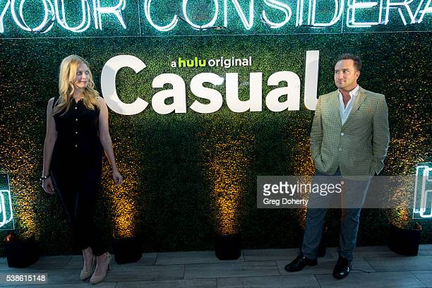 Hilary Barraford and Brian Rodda attend the Premiere Of Hulu's Casual Season 2 After Party on June 6 2016 in Hollywood California