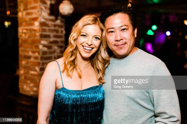 Hilary Barraford and Timo Chen attend Hilary Barraford's Birthday Party held at Madame Siam on April 26 2019 in Los Angeles California
