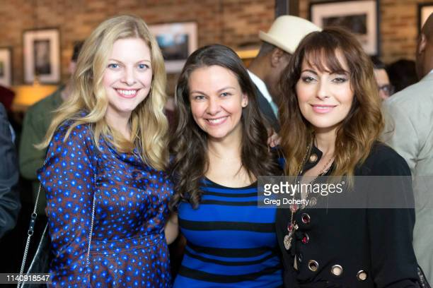 Hilary Barraford Lauren White and Nadia Lanfranconi attend The Bay The Series PreEmmy Red Carpet Celebration at The Shelby on May 2 2019 in Los...