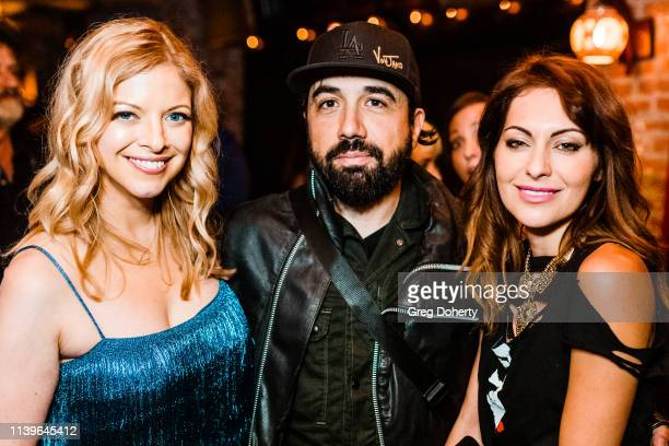 Hilary Barraford, VonJako and Nadia Lanfranconi attend Hilary Barraford's Birthday Party held at Madame Siam on April 26, 2019 in Los Angeles,...