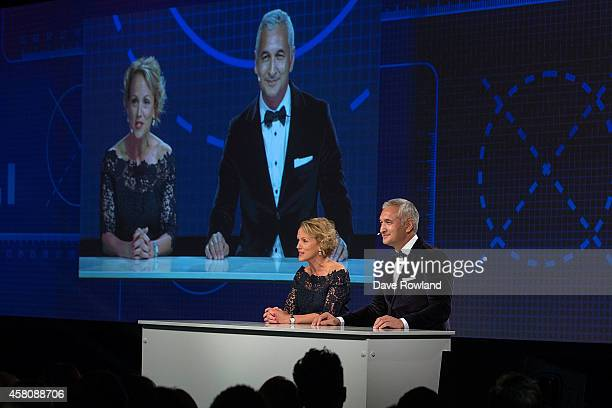 Hilary Barry and Mike McRoberts at the MediaWorks New Season Content Launch 2015 on October 30 2014 in Auckland New Zealand