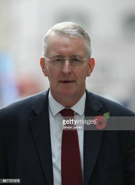 Hilary Benn Labour MP seen arrving to the BBC on October 29 2017 in London England