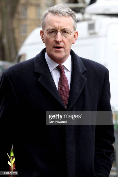 Hilary Benn the current Secretary of State for Environment Food and Rural Affairs arrives at the Queen Elizabeth II Conference Centre to give...
