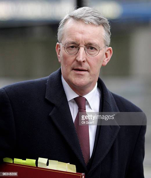Hilary Benn the current Secretary of State for Environment Food and Rural Affairs leaves the Queen Elizabeth II Conference Centre after giving...