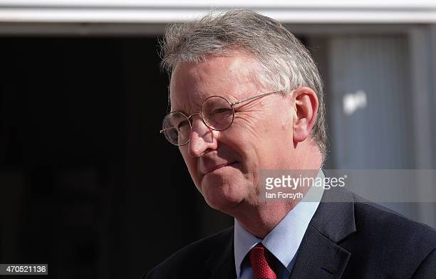 Hilary Benn the Shadow Communities Secretary is pictured during a visit to Westfield Farm a community training and resource centre on April 21 2015...