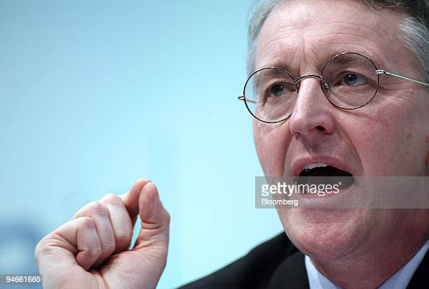 Hilary Benn UK Secretary of State for Energy and Environment speaks at the Confederation of British Industry Conference in London UK on Tuesday Nov...