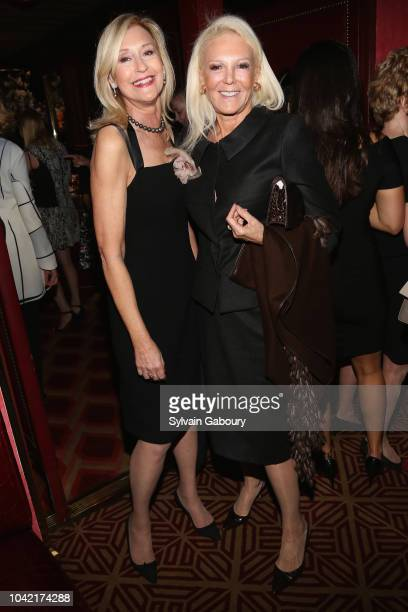 Hilary Block and Renee Morrison attend David Patrick Columbia And Chris Meigher Toast The QUEST 400 At DOUBLES on September 27 2018 in New York City