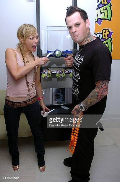 Hilary Duff and Benji Madden of Good Charlotte at BopIt Blast at The Sanctuary by BWR Best Events Premiere Gifting Hotel