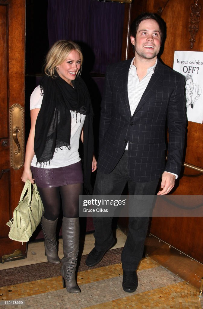 """Hilary Duff And Mike Comrie Visit """"Reasons to be Pretty"""" On Broadway"""