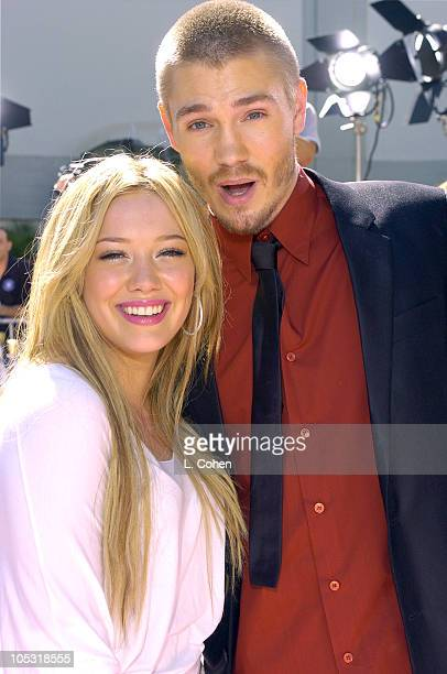 Hilary Duff and Chad Michael Murray during A Cinderella Story Premiere Red Carpet at Grauman's Chinese Theater in Hollywood California United States