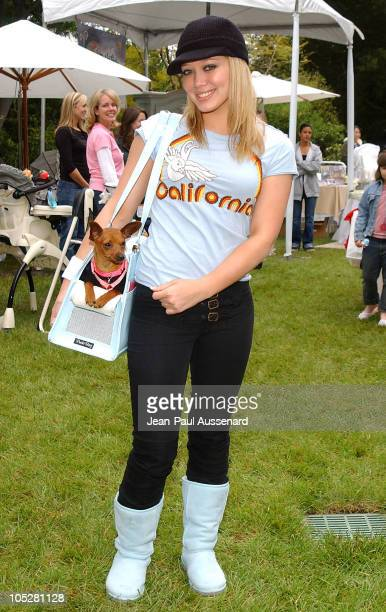 Hilary Duff and Chiquita her newly adopted dog from Much Love Animal Rescue at Puchibag
