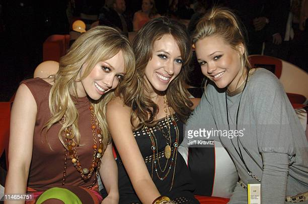 Hilary Duff and Haylie Duff during 2005 MTV Movie Awards Backstage and Audience at Shrine Auditorium in Los Angeles California United States