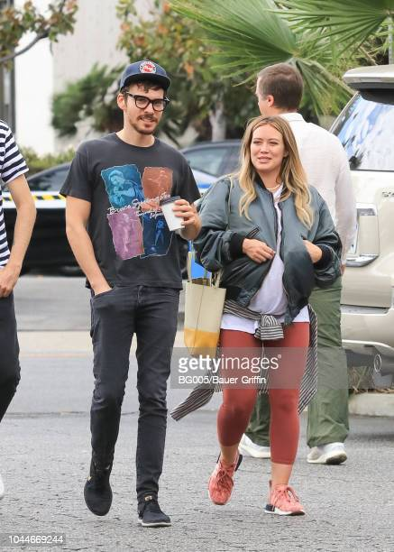 Hilary Duff and her boyfriend Matthew Koma are seen on October 02 2018 in Los Angeles California