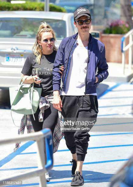 Hilary Duff and her fiance Matthew Koma are seen on July 12 2019 in Los Angeles California