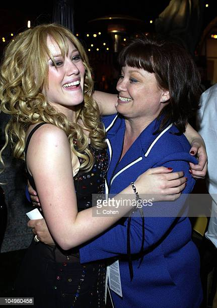 Hilary Duff and her mom Susan duff during The Lizzie McGuire MoviePremiere After Party at The El Capitan Theater in Hollywood CA United States