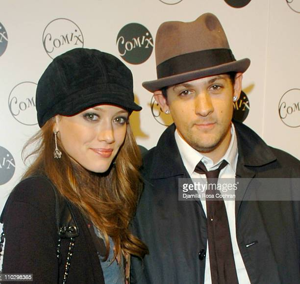 Hilary Duff and Joel Madden during Comix Grand Opening September 14 2006 at Comix in New York City New York United States