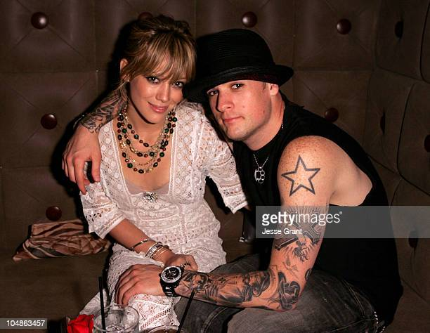 Hilary Duff and Joel Madden during Entertainment Weekly Magazine 3rd Annual PreEmmy Party Inside at Cabana Club in Los Angeles California United...