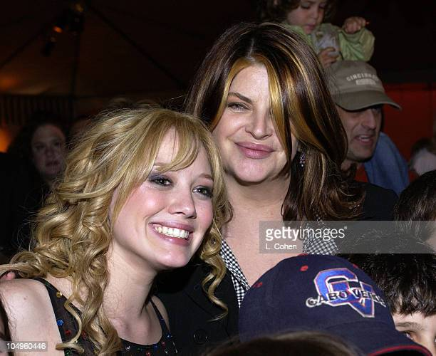Hilary Duff and Kirstie Alley during The Lizzie McGuire MoviePremiere After Party at The El Capitan Theater in Hollywood CA United States