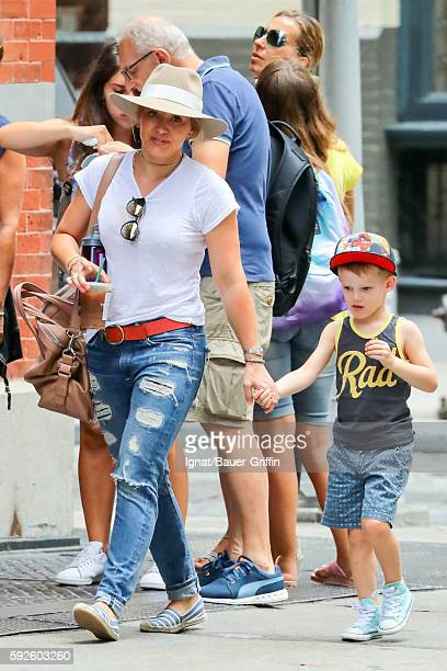 Hilary Duff and Luca Comrie are seen on August 20 2016 in New York City