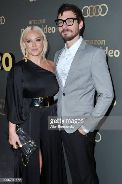 Hilary Duff and Matthew Koma Amazon Prime Video's Golden Glove Awards after party at The Beverly Hilton Hotel on January 06 2019 in Beverly Hills...
