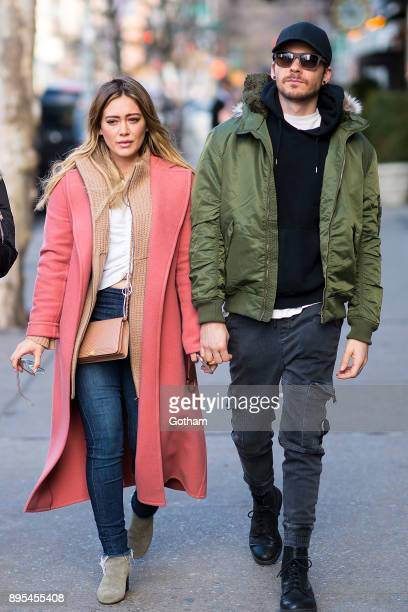 Hilary Duff and Matthew Koma are seen in the East Village on December 19 2017 in New York City
