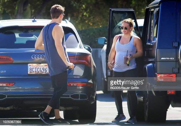 Hilary Duff and Matthew Koma are seen on August 30 2018 in Los Angeles California