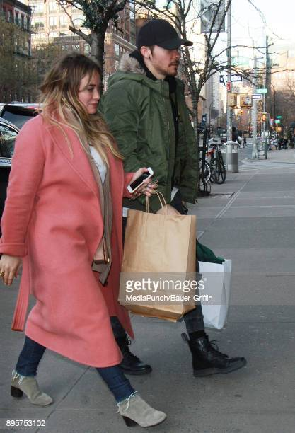 Hilary Duff and Matthew Koma are seen on December 19 2017 in New York City