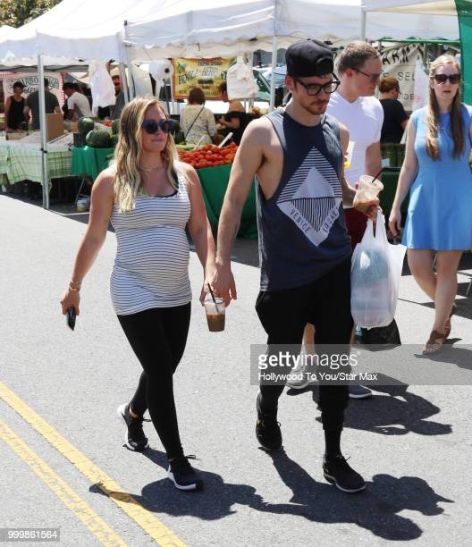 Hilary Duff and Matthew Koma are seen on July 15 2018 in Los Angeles California