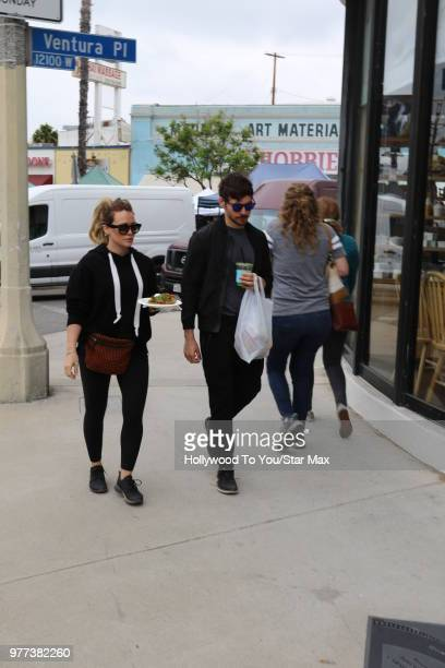 Hilary Duff and Matthew Koma are seen on June 17 2018 in Los Angeles California
