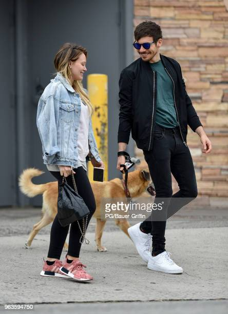 Hilary Duff and Matthew Koma are seen on May 29 2018 in Los Angeles California