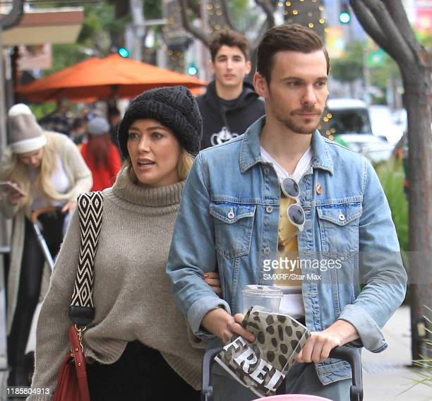 Hilary Duff and Matthew Koma are seen on November 30 2019 in Los Angeles California