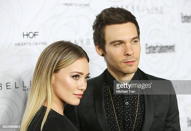 Hilary Duff and Matthew Koma arrive at the Entertainment Weekly hosts celebration honoring nominees for The Screen Actors Guild Awards held at...
