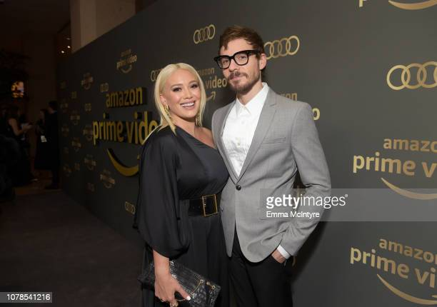 Hilary Duff and Matthew Koma attend the Amazon Prime Video's Golden Globe Awards After Party at The Beverly Hilton Hotel on January 6, 2019 in...