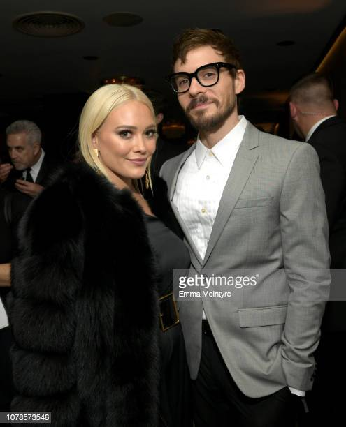 Hilary Duff and Matthew Koma attend the Amazon Prime Video's Golden Globe Awards After Party at The Beverly Hilton Hotel on January 6 2019 in Beverly...