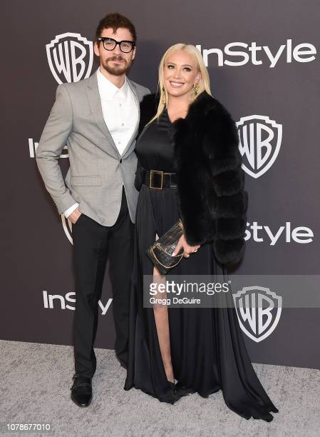 Hilary Duff and Matthew Koma attend the InStyle And Warner Bros Golden Globes After Party 2019 at The Beverly Hilton Hotel on January 6 2019 in...
