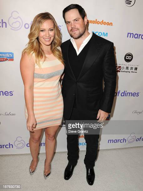 Hilary Duff and Mike Comrie arrives at the March Of Dimes' Celebration Of Babies at Beverly Hills Hotel on December 7 2012 in Beverly Hills California