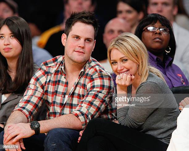 Hilary Duff and Mike Comrie attend Game One of the Western Conference Finals between the Phoenix Suns and the Los Angeles Lakers during the 2010 NBA...